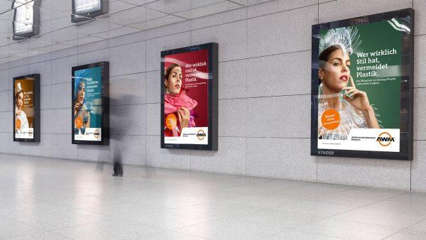 Die Kampagne Plastikvermeidung für den AWM München